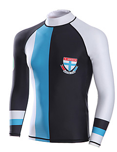 남성용 잠수복 상의 인체 해부학적 디자인 통기성 압축 네오프렌 잠수복 긴 소매 탑스-다이빙 봄 여름 클래식