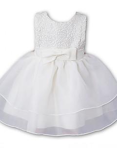 Baby Formelle Kjole Ensfarget Broderi Polyester Sommer