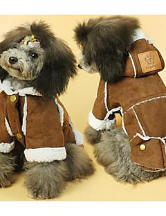 Köpek Paltolar Köpek Giyimi Sevimli Günlük/Sade Tek Renk Sarı Kahverengi