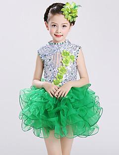 Мы будем балетными платьями малыша spandex tulle rhinestones 2 штуки танцевального костюма
