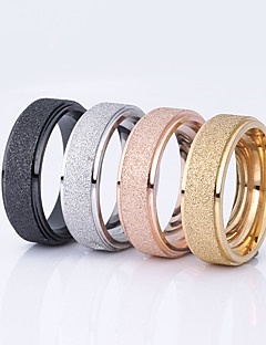 Kadın's Çift Yüzükleri Basic Tasarım Paslanmaz Çelik Round Shape Mücevher Uyumluluk Düğün Parti Özel Anlar Günlük