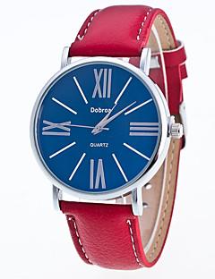 Pánské Módní hodinky čínština Křemenný Kůže Kapela Běžné nošení Černá Bílá Červená Hnědá