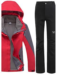 Mulheres Jaquetas 3-em-1 Prova-de-Água Térmico/Quente A Prova de Vento Forro de Velocino Á Prova-de-Chuva Vestível Respirável Confortável