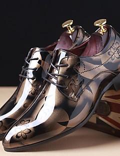 Bărbați Pantofi Piele Originală Primăvară Vară Toamnă Iarnă Confortabili Oxfords Pentru Casual Party & Seară Gri Rosu Albastru Maro