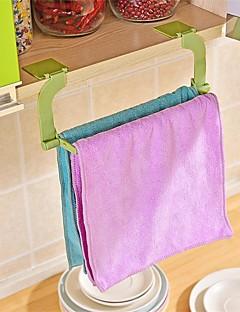 1pcs sem costura pasta de perfuração livre toalha de rack pendurado toalha cozinha banheiro banheiro toalha rack cor aleatória