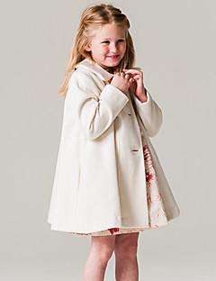 女の子 ファッション ゼブラプリント アクリル ポリエステル 綿100% ジャケット&コート 長袖