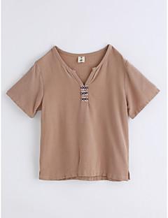 Jungen T-Shirt Einheitliche Farbe Baumwolle Sommer Kurzarm