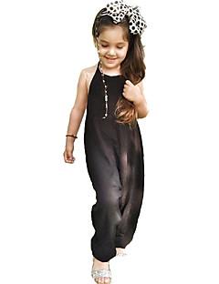 Mädchen Anzug & Overall einfarbig Punkte Baumwolle Sommer
