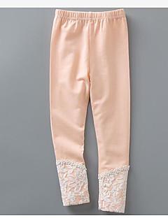 Mädchen Hose einfarbig Baumwolle Frühling Winter