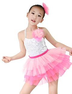 Dětské taneční kostýmy Úbory Dětské Výkon Organza / Lycra Flitry Bez rukávů Vysoký