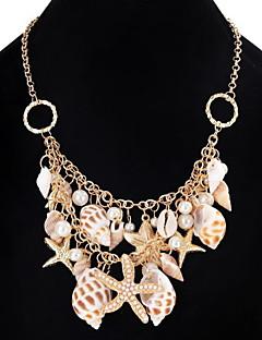 Dame Jente Choker Halskjede Kjedehalskjeder Uttalelse Halskjeder Imitert Perle SmykkerUnikt design Hengende Perle Venskap Klassisk Mote