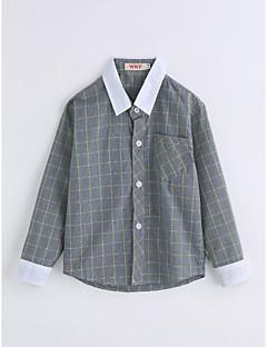Jungen Hemd Gitter Baumwolle Frühling/Herbst Lange Ärmel