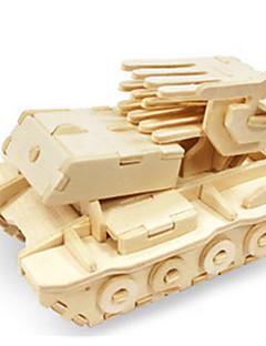 Puzzle Sada na domácí tvoření 3D puzzle Stavební bloky DIY hračky Tank Vozík