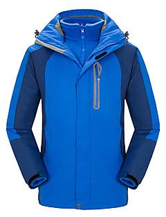 Homens Jaquetas 3-em-1 Prova-de-Água Térmico/Quente A Prova de Vento Vestível Respirável Confortável Jaquetas 3-em-1 para Acampar e