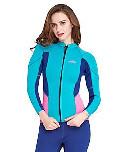 SBART 여성용 2mm 잠수복 상의 인체 해부학적 디자인 통기성 압축 선크림 네오프렌 잠수복 긴 소매 탑스-다이빙 봄 여름 솔리드 클래식 패션