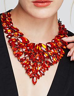 Dame Uttalelse Halskjeder store halskæder Smykker Edelsten Krystall Mote Europeisk Luksus Smykker Erklæringssmykker Elegant kostyme
