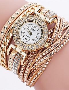 בגדי ריקוד נשים שעוני אופנה שעון צמיד ייחודי Creative צפה שעונים יום יומיים יהלוםSimulated שעון Chinese קווארץ חיקוי יהלום PU להקהמזל יום