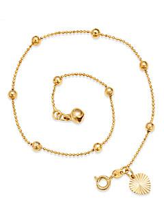 בגדי ריקוד נשים תכשיט לקרסול/צמידים ציפוי זהב מתכווננת סגנון מינימליסטי Circle Shape Round Shape תכשיטים עבור ליציאה חוף