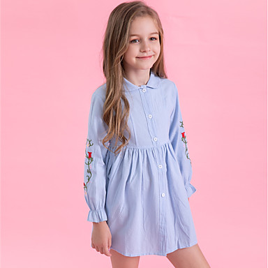 ea0c55d5f61 Χαμηλού Κόστους Ρούχα για Κορίτσια-Παιδιά Κοριτσίστικα Ενεργό / Γλυκός  Καθημερινά / Εξόδου Ριγέ Κεντητό