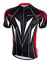 Nuckily Maillot de Cyclisme Homme Manches Courtes Velo Maillot Hauts/Tops Sechage rapide Zip frontal Vestimentaire Respirable 100 %