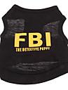 Chien Tee-shirt Jaune Noir Vetements pour Chien Ete Police/Militaire Lettre et chiffre Vacances Mode