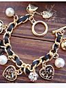 Dame Brățări cu Talismane Iubire European costum de bijuterii bijuterii de lux Perle Imitație de Perle Diamante Artificiale Aliaj Heart