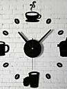 stickers muraux horloge stickers muraux, bar café tasse acrylique 3d stickers muraux