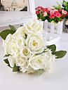 """Flori de Nuntă Rotund Trandafiri Bujori Buchete Nuntă Petrecere / Seară Satin Mătase 7.87""""(Approx.20cm)"""