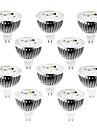 4w gu5.3 (mr16) projecteur led mr16 320 lm chaud / froid / blanc naturel dimmable dc / ac 12 v 10 pcs
