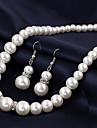 Dame Coliere cu Pandativ Κολιέ με Πέρλες Perle Aliaj costum de bijuterii de Mireasă European Bijuterii Pentru Nuntă