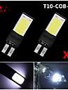 2x meilleure T10 W5W 194 ampoule LED COB 168 6W lampe a cote de la cale 12v blanc ultra lumineux