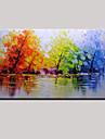 Peint a la main Abstrait Paysage Panoramique Horizontale,Moderne Un Panneau Toile Peinture a l\'huile Hang-peint For Decoration d\'interieur