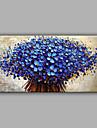 Peint a la main A fleurs/Botanique Format Horizontal,Moderne Un Panneau Toile Peinture a l\'huile Hang-peint For Decoration d\'interieur
