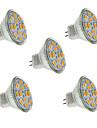 2w gu4 (mr11) projecteur led mr11 12 smd 5730 240-260 lm chaud / cool blanc decoratif dc 12 v 5 pcs