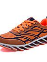 Bărbați Adidași de Atletism Iarnă Confortabili PU Casual Toc Plat Dantelă Negru Roșu Orange Alergare