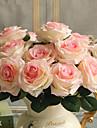 1 Une succursale Polyester Plastique Roses Fleur de Table Fleurs artificielles 45(17.7\'\')