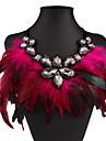 Pentru femei Coliere cu Pandativ Picătură Cristal Ștras Pană Nailon Sexy La modă European Bijuterii Statement costum de bijuterii