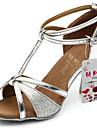 Latin - Pantofi de dans (Negru/Maro/Argintiu/Auriu) - Personalizat - Pentru femei
