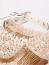 Chien Colliers decoratifs Vetements pour Chien Mode Cristal / Stras Blanc