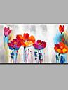 Pictat manual Floral/Botanic Orizontal,Modern Un Panou Canava Hang-pictate pictură în ulei For Pagina de decorare