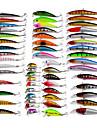 56 pcs Fretin leurres de peche Fretin Kits de leurre Poissons nageur/Leurre dur Multicolore g/Once mm pouce Peche d\'appat