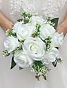 "Flori de Nuntă Rotund Trandafiri Buchete Nuntă Satin 8.66""(Approx.22cm)"