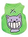 Chat Chien Tee-shirt Gilet Vetements pour Chien Decontracte / Quotidien Animal Rouge Vert Bleu Rose