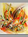 Peint a la main A fleurs/Botanique Moderne/Contemporain Un Panneau Toile Peinture a l\'huile Hang-peint For Decoration d\'interieur