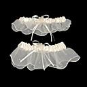 Χαμηλού Κόστους Καλτσοδέτες γάμου-Σιφόν / Σατέν Κλασσικό Γάμος Garter Με Χάντρες / Κορδέλα Καλτσοδέτες