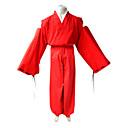 """billige Anime Kostymer-Inspirert av InuYasha Inu Yasha Anime  """"Cosplay-kostymer"""" Cosplay Klær Japansk Kimono Ensfarget Langermet Topp Hakama bukser Kimono Frakke"""