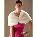 cheap Wedding Wraps-Sleeveless Faux Fur Wedding Wedding  Wraps / Fur Wraps With Beading Shrugs