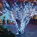 abordables Tiras de Luces LED-Lámpara de la secuencia de la luz blanca de 10m 6w 100-led para la decoración del festival de Halloween (110 / 220v)