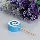 tanie Upominki w kształcei świeczek-piękna lollipopowa świeca-niebieski (zestaw 4) eleganckich upominków ślubnych