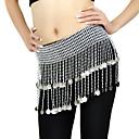 זול אביזרי ריקוד-ריקוד בטן חגורה בגדי ריקוד נשים הדרכה קלקר חרוזים מטבעות